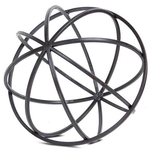 "Tabletop Metal Orb Medium (8.07""x7.87""x8.07"")"