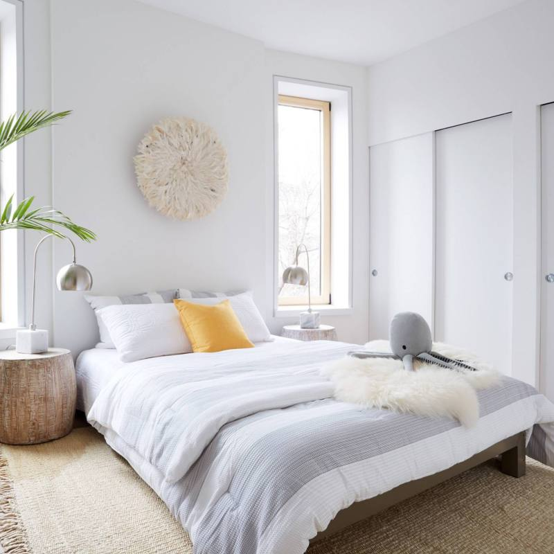 Serene Scandinavian Bedroom with neutral colors
