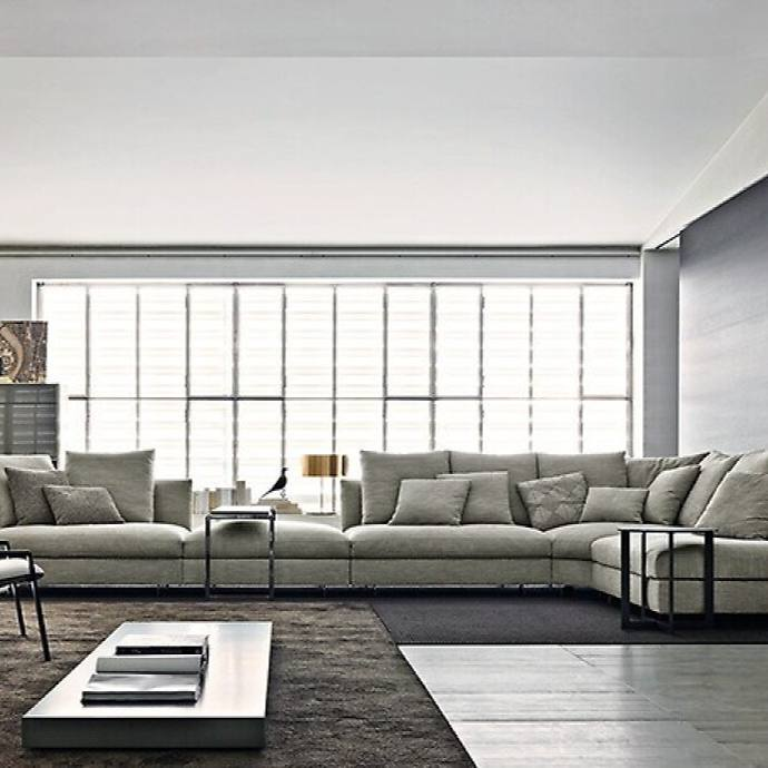 Grey modern minimalist living room