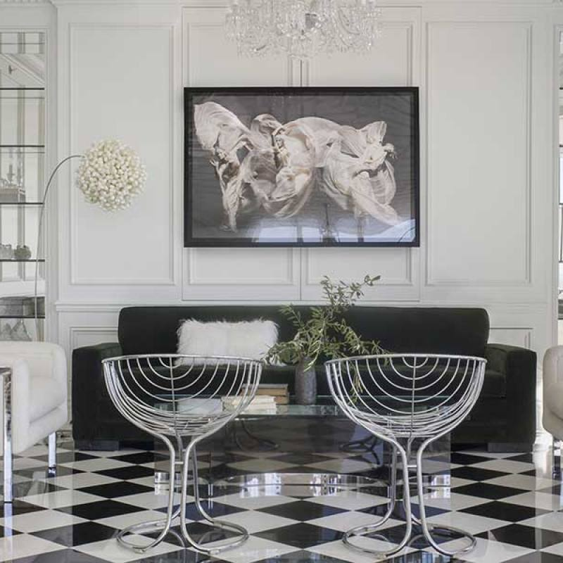 Black and white modern kendall wilkinson living room