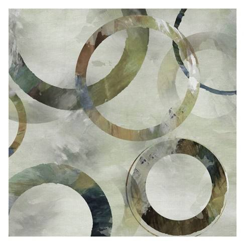 "35""x35"" Rings Galore Spring Square II By Nan Art On Canvas - Fine Art Canvas"