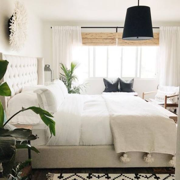 Modern bohemian california home bedroom
