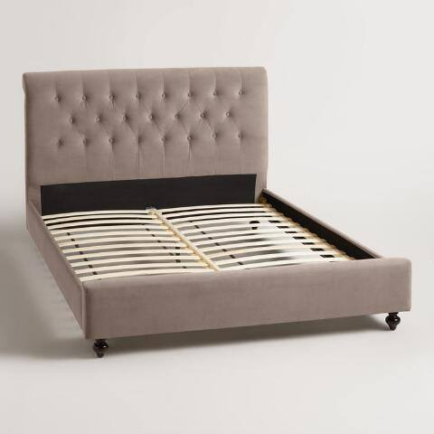 Velvet Erin Upholstered Bed