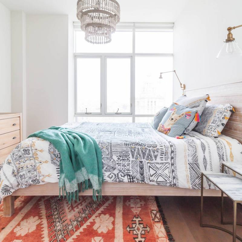 Modern boho chic bedroom