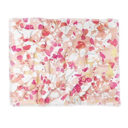 Elisabeth Fredriksson Terrazzo Delight Woven Throw Blanket Pink - Deny Designs