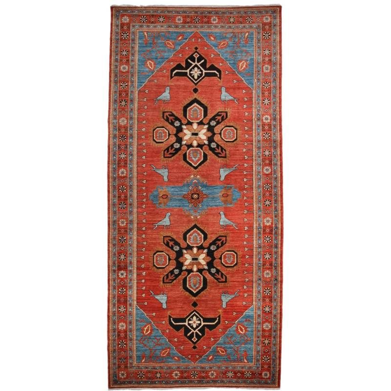 "Wally One of a Kind 5'5"" x 11'10"" Rug, Red"