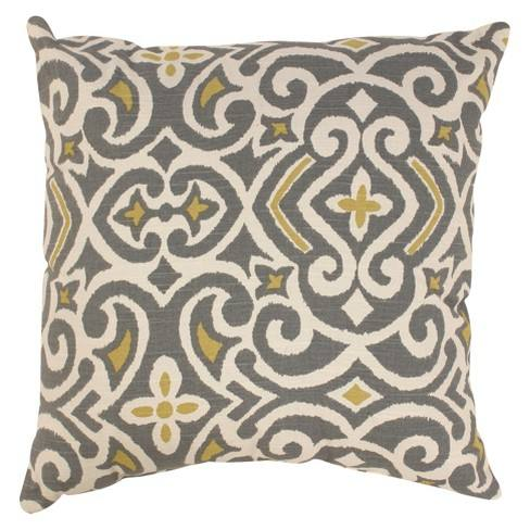 Beige/ Gray Damask Throw Pillow Collection - Pillow Perfect