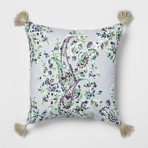 Paisley Embroidered Throw Pillow - Threshold�