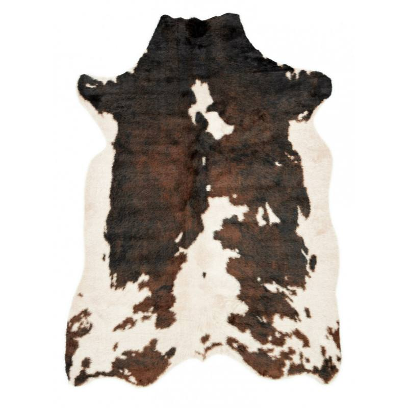 Brown Dash Faux Cowhide Rug
