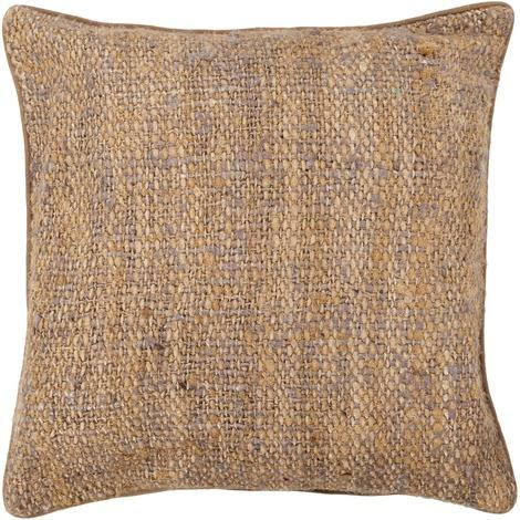 Textured Contemporary Silk Fabric Pillow - Purple/Natural