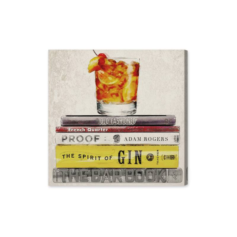 Bar Books Canvas Wall Art
