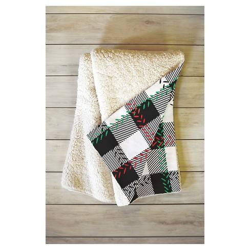 "Black Plaid Zoe Wodarz Cozy Cabin Sherpa Throw Blanket (50""X60"") - Deny Designs�"