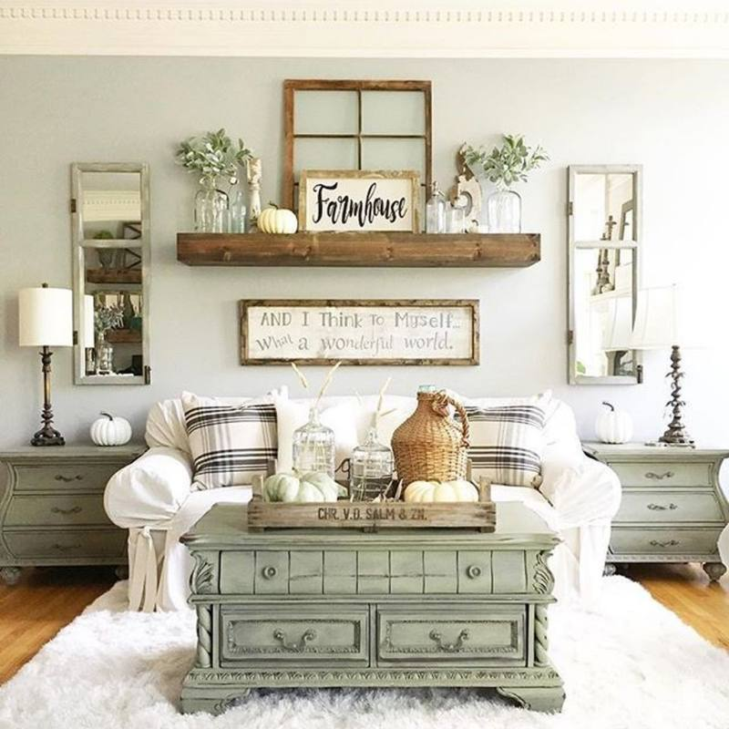 Amazing Modern Farmhouse Style Decoration Ideas For Your Living Room