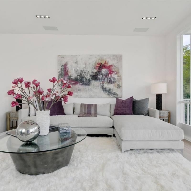 White contemporary living room