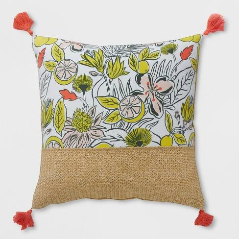 Oversize Square Party Floral Outdoor Pillow - Opalhouse�