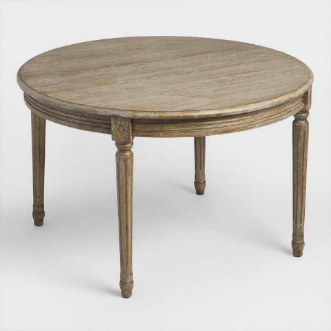 Round Wood Paige Dining Table