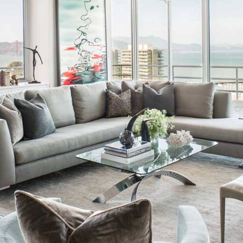 Get the look: Contemporary grey living room