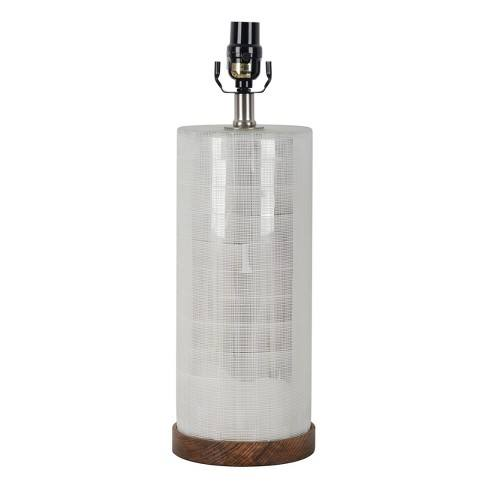Light Mercury Cut Glass with Wood Base - Threshold�