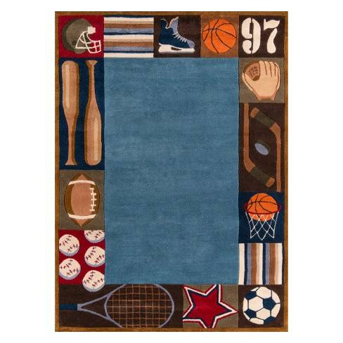 Lil Mo Whimsy Sports Tufted Accent Rug - Momeni