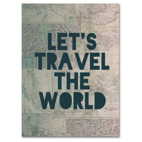 'Travel the World' by Leah Flores Ready to Hang Canvas Wall Art