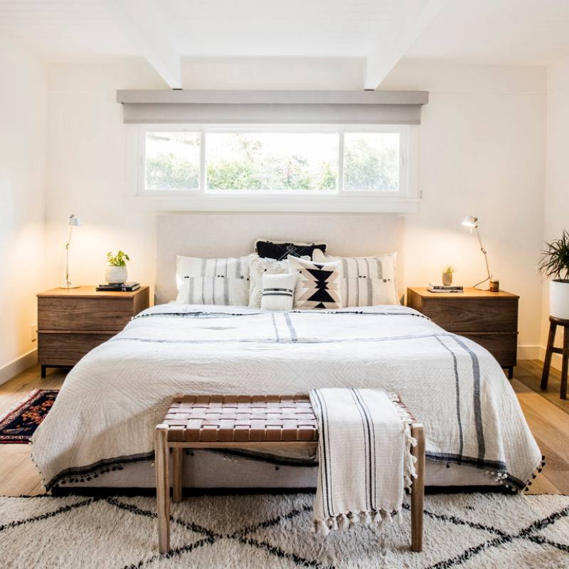 Get the look: Modern bright bedroom