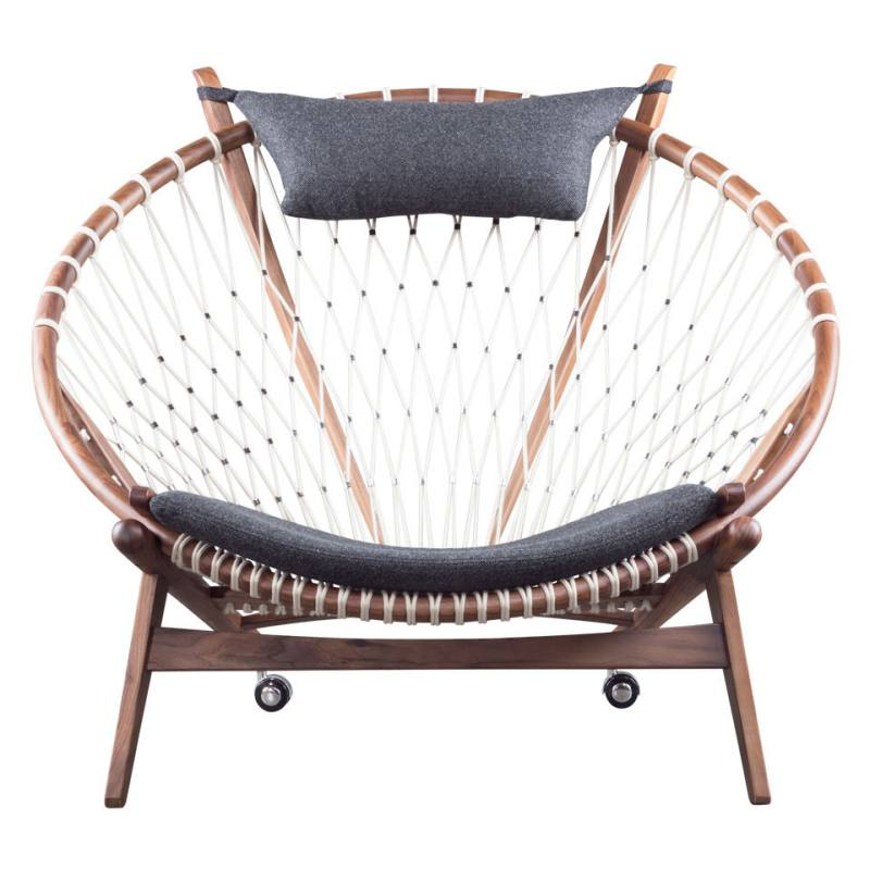 Charcoal Net Lounge Chair