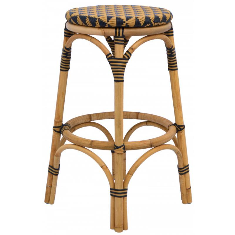 Nayla Counter Stool, Natural and Black