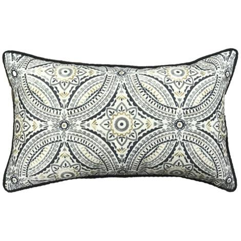 Emblem Outdoor Throw Pillow