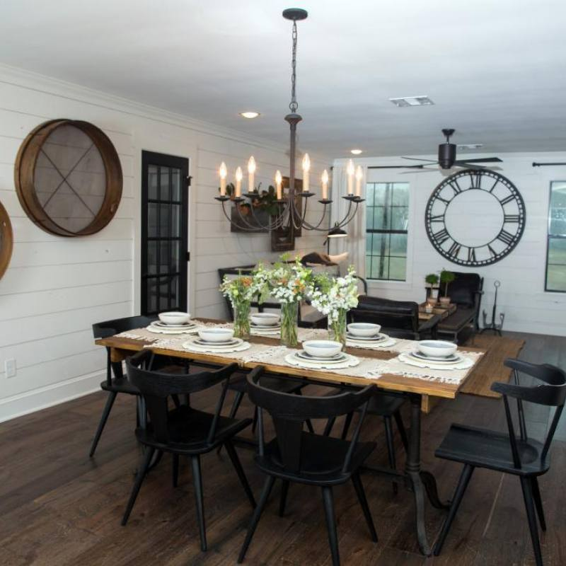 Fixer Upper Meek house dining room