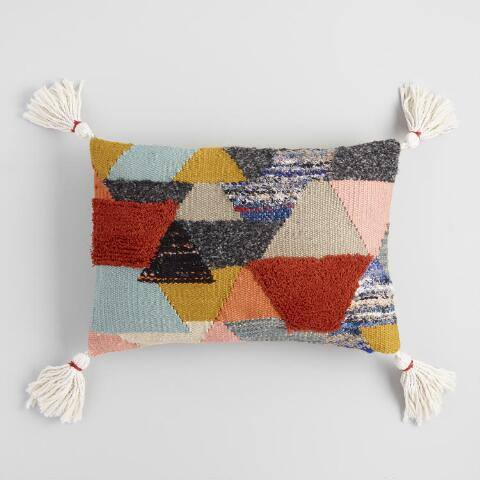 Multicolor Horizon Tufted Lumbar Pillow