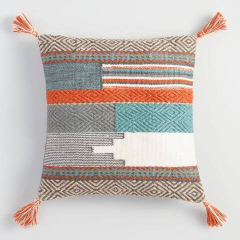 Desert Tapestry Woven Indoor Outdoor Throw Pillow