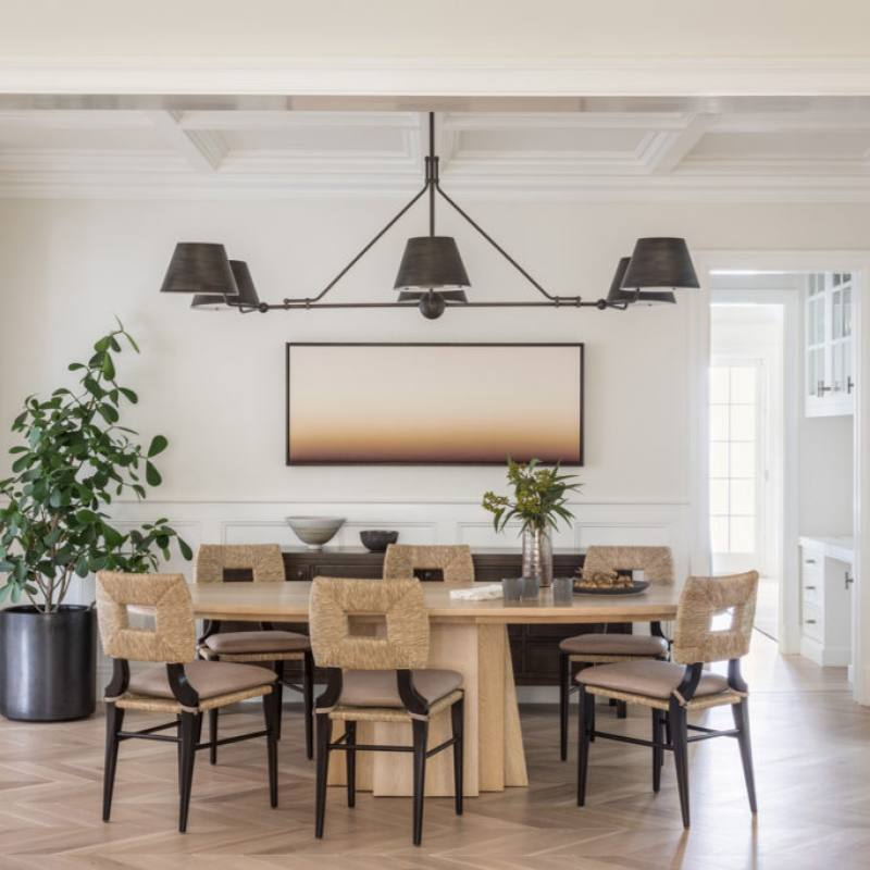 Modern rustic coastal farmhouse dining room
