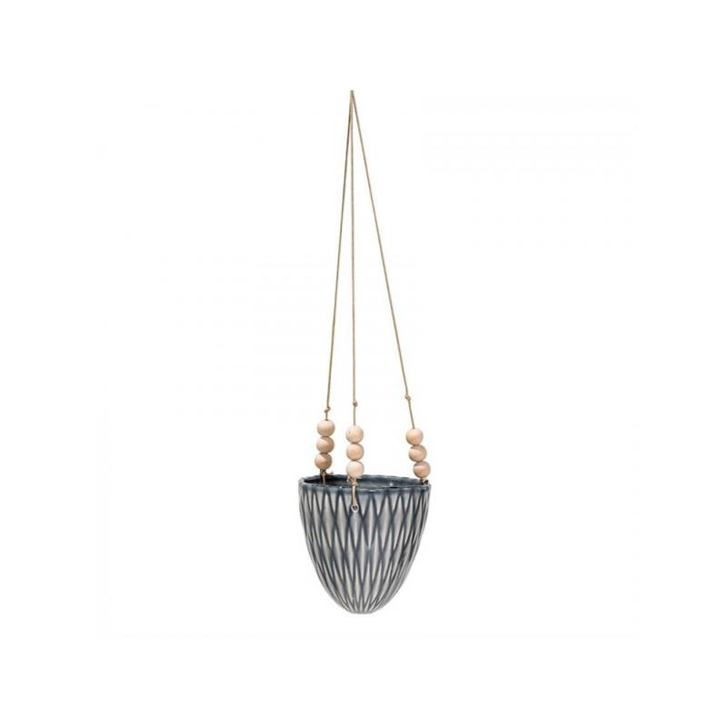 Riley Hanging Planter, Gray