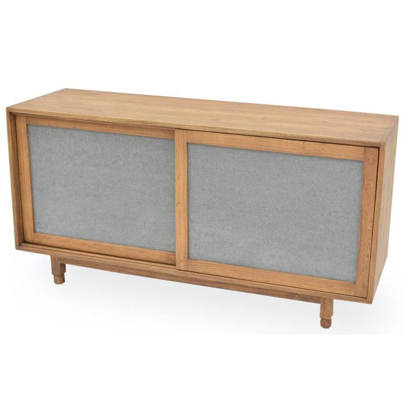 Concrete Panel 2 Door Accent Cabinet