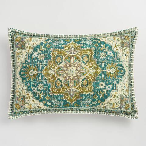 Oversized Cool Carpet Print Lumbar Pillow
