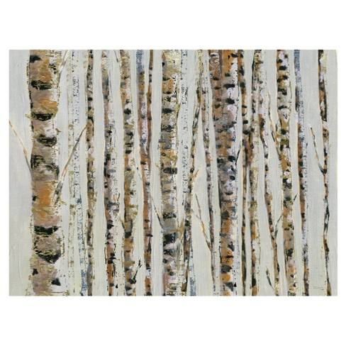 "30""x40"" Birch Bling By Katrina Craven Art On Canvas - Fine Art Canvas"
