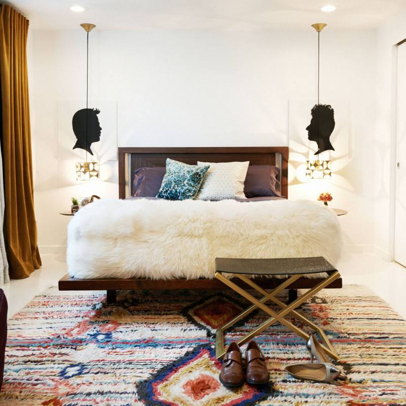 Eclectic Boho Bedroom with lots of textures