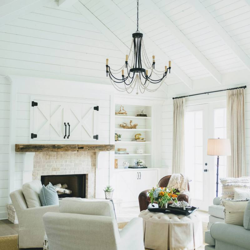 Fixer Upper Inspired vintage farmhouse living room