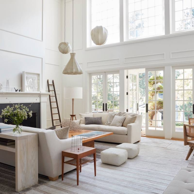 Modern Farmhouse Living Room by m.elle Design