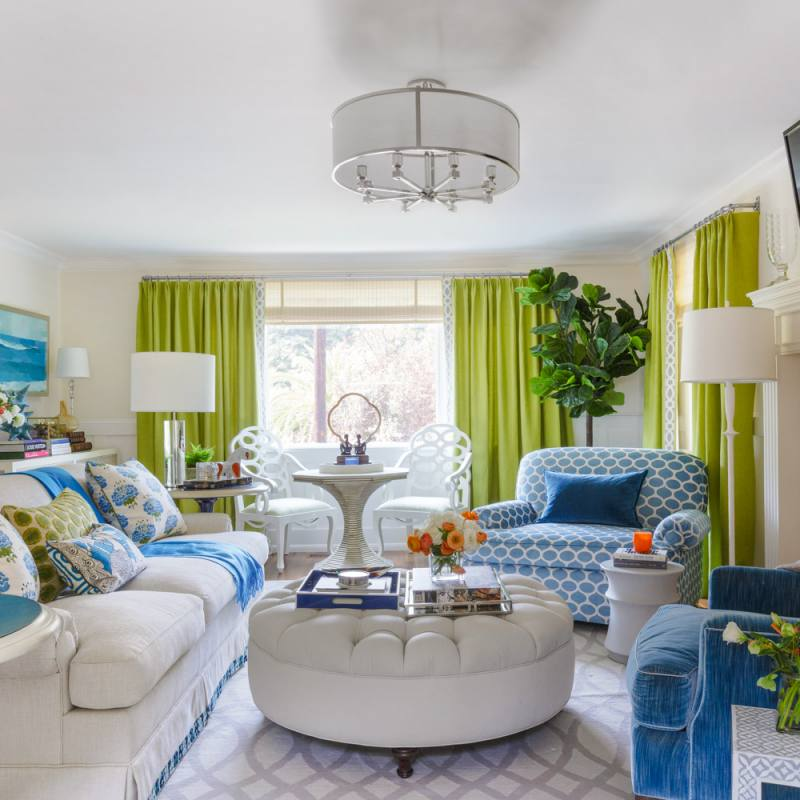 Blue and green traditional ann lowengart livingroom