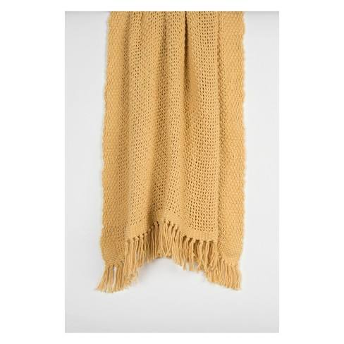 Solid Cotton Woven Throw - Rizzy Home