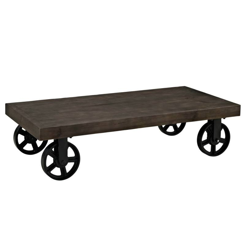 Garrison Wood Top Coffee Table Black - Modway