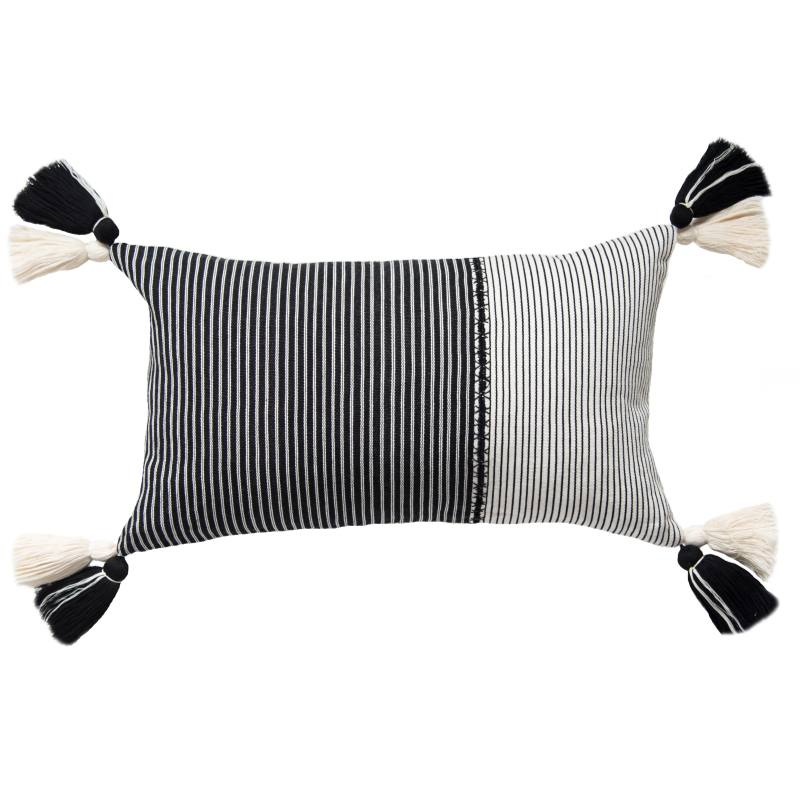Renata Lumbar Pillow, Black
