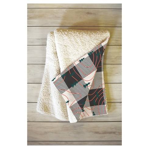 "Black Plaid Zoe Wodarz Nature Hike Sherpa Throw Blanket (50""X60"") - Deny Designs�"