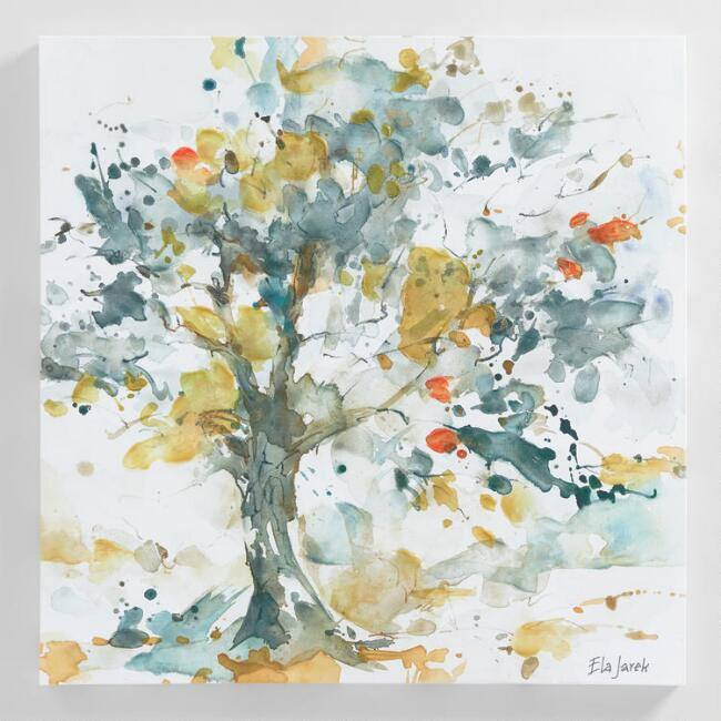 Watercolor Trees by Ela Jarek