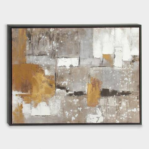 Contemporary Abstract Wall Art in Black Frame