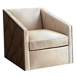 Zavala Sullivan Leather Swivel Armchair