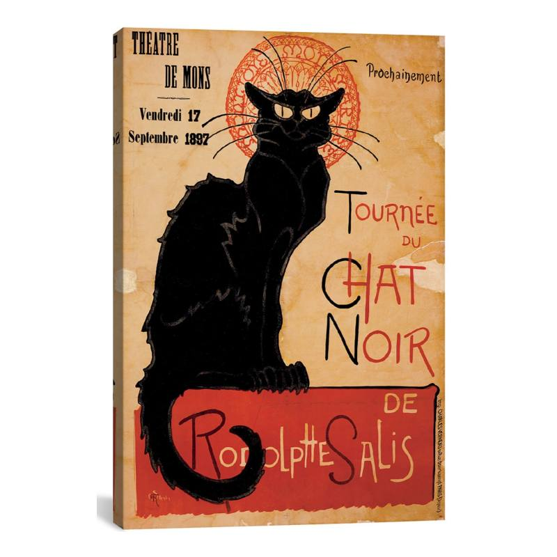 'Tourn�e du Chat Noir' Gicl�e Print Canvas Art
