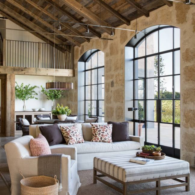 Rustic vintage farmhouse living room Jute Interior Design