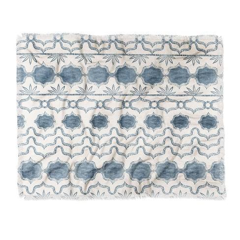 "60""X50"" Dash And Ash Tuni Luna Throw Blanket Blue - Deny Designs"